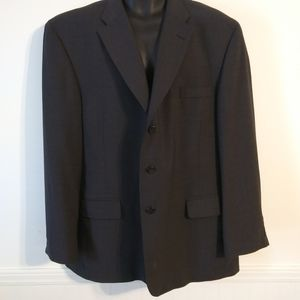 Haggar Black Label Wool Blend Black Suit Jacket